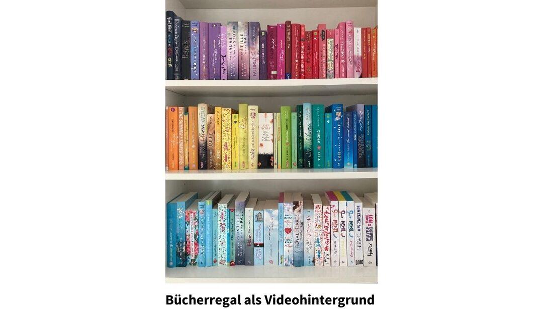 Bücherregal als Videohintergrund: Mit diesen 9 Tipps machst du es zum Eyecatcher